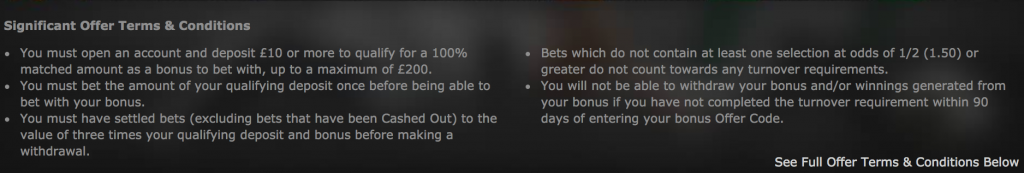 Bet365 Full terms and conditions