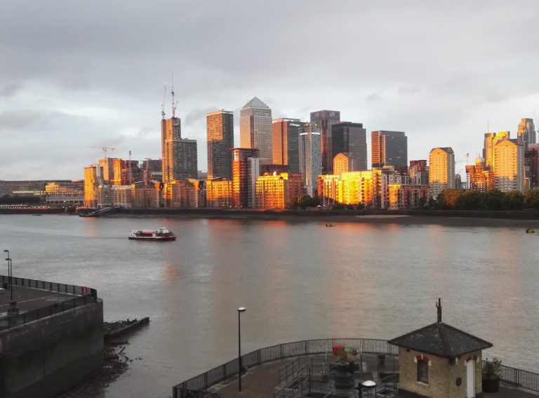 Canary Wharf, view from Surrey Quays