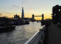 A great sunset view from Wapping, London