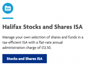 Halifax Stocks and shares isa