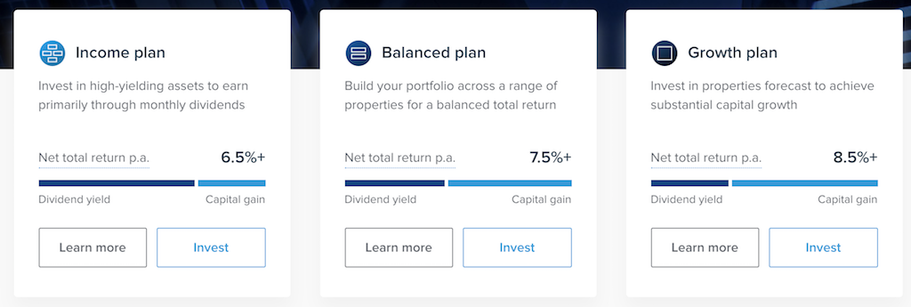 Investment plans at Property Partner