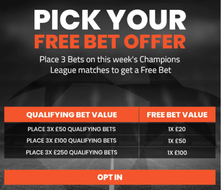 Matched betting inbox offer
