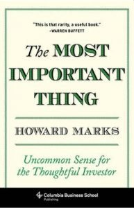The most important thing - Howard Marks book