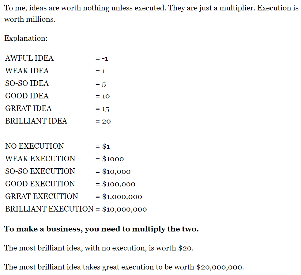 Idea execution multiplier