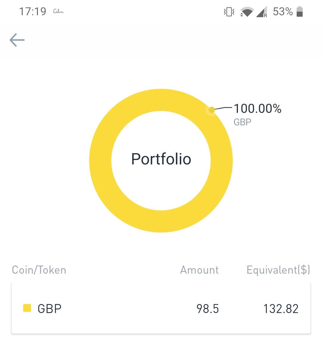 GBP deposit binance limited company